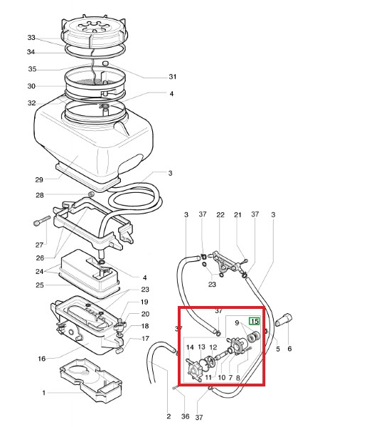 Pumpica škropilnice AM 162