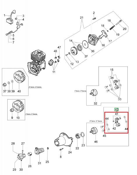 Sklopka kosilnice BC320T