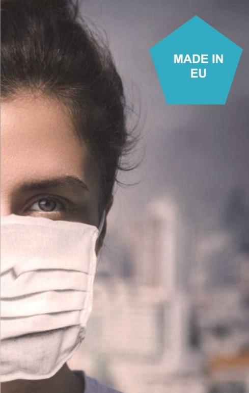 Zaščitna maska enoslojna - bombaž- 4 kosi